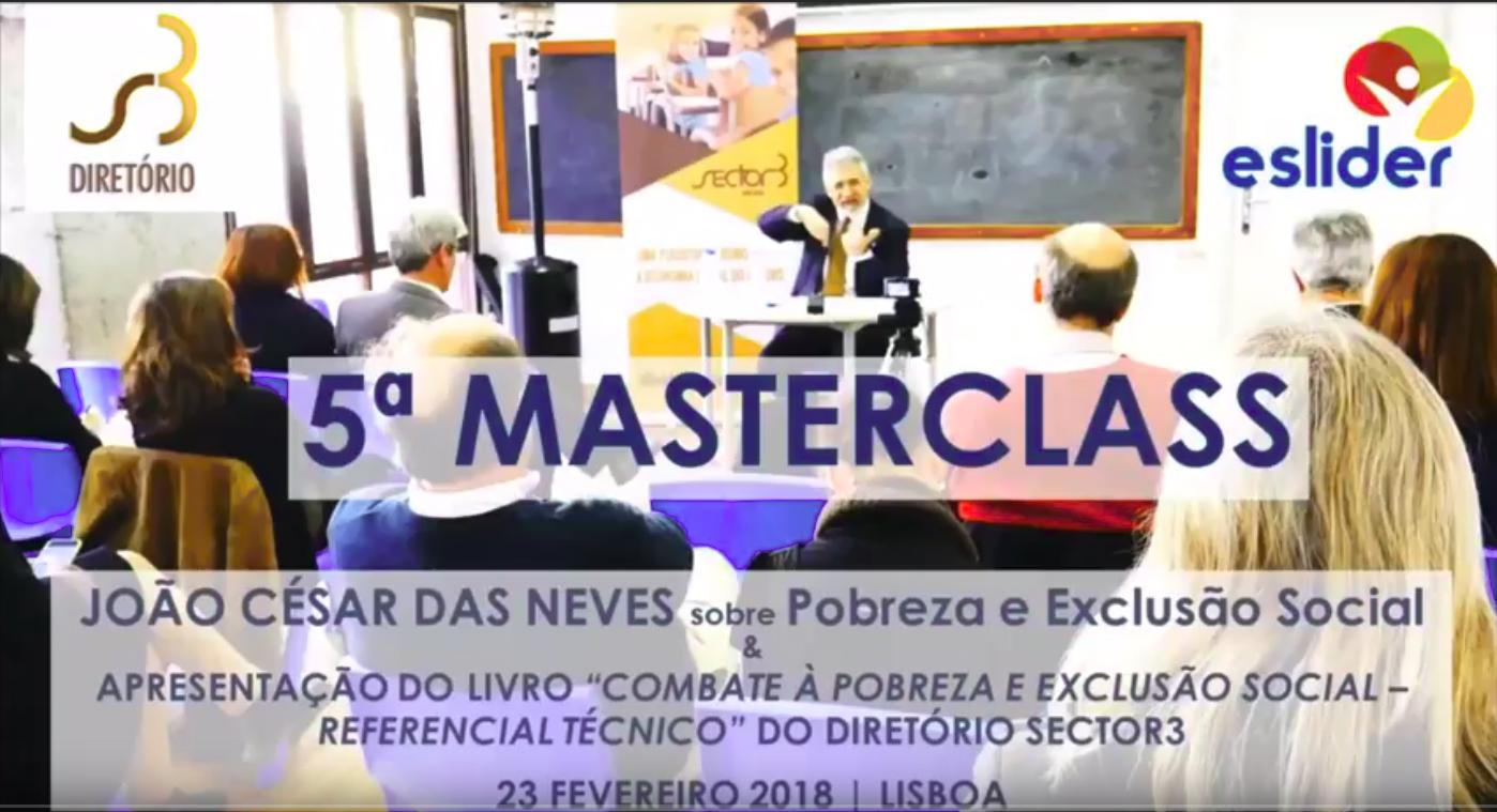Masterclass com João César das Neves